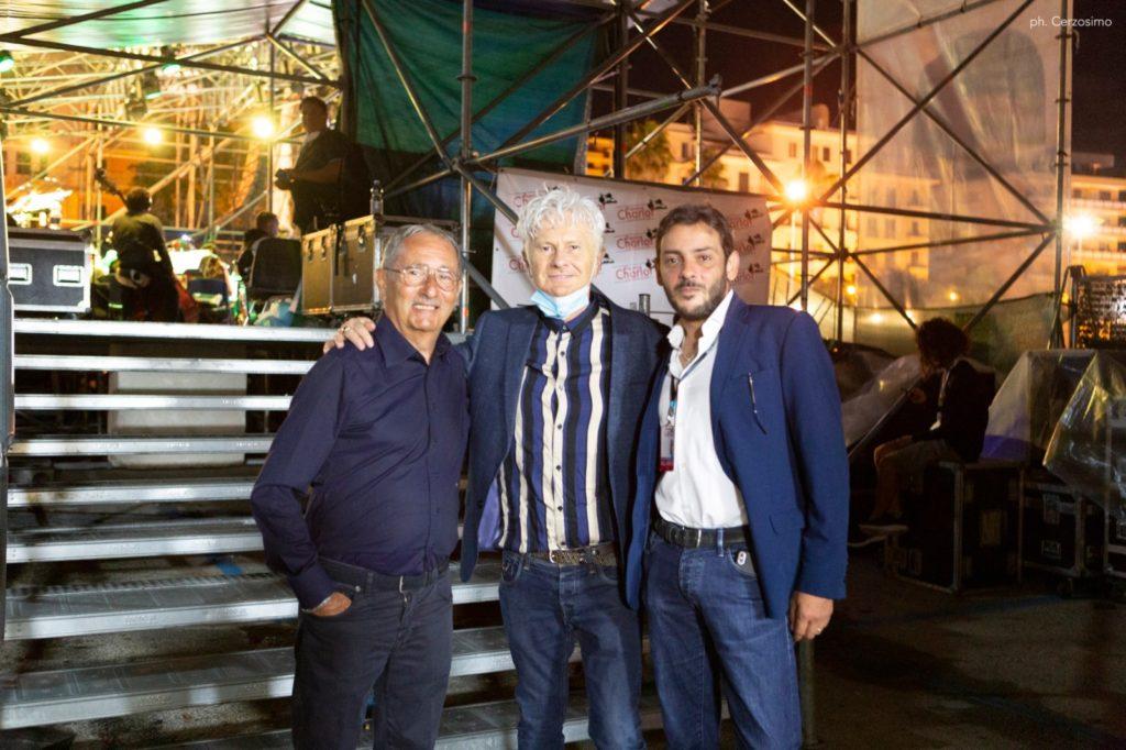 Ron, tra Claudio e Gianluca Tortora (ph. Cerzosimo)