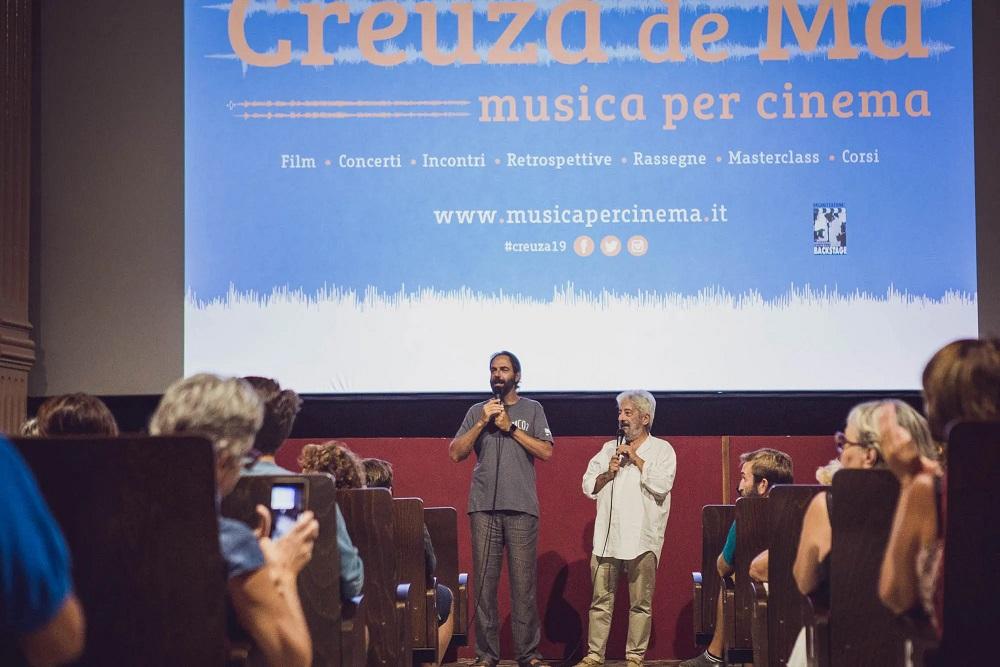 Neri Marcorè e Gianfranco Cabiddu al festival Creuza de Mà 2019 (foto Sara Deidda)