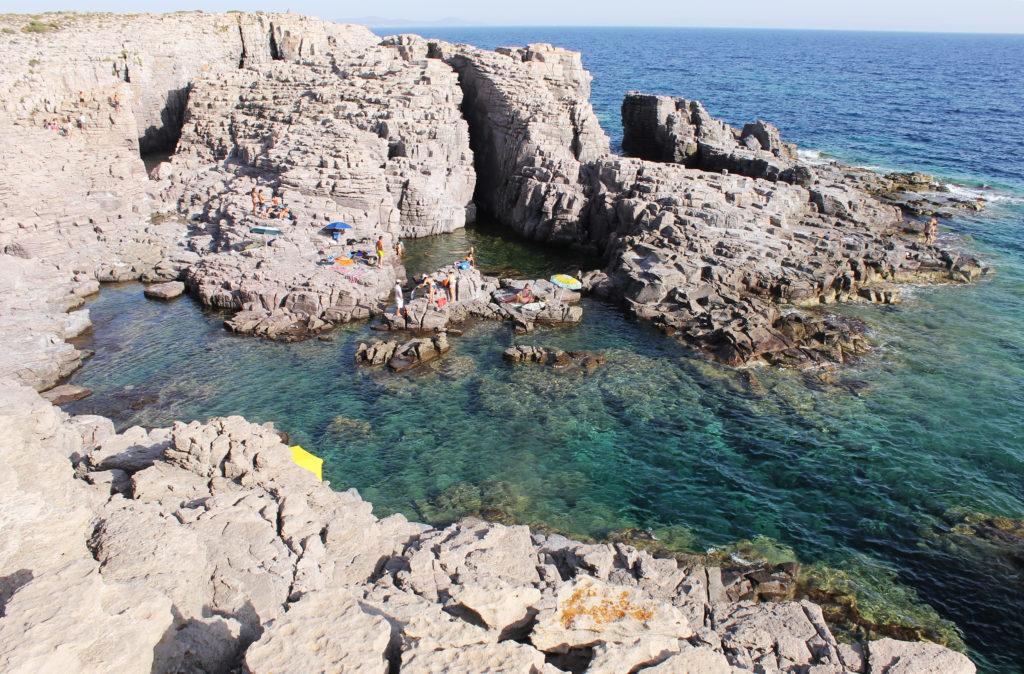 Carloforte-Isola di San Pietro. La Conca, il tratto di mare dove Atzeni ha perso la vita.